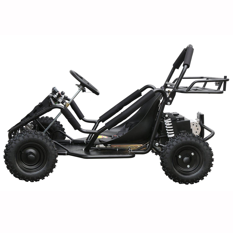 JCMOTO Upgraded Electric Go Karts 4 Four Wheelers For Kids 48v 1800w (Black)