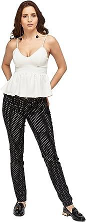 Ex Zara - Pantalones vaqueros de sarga para mujer, diseño de ...