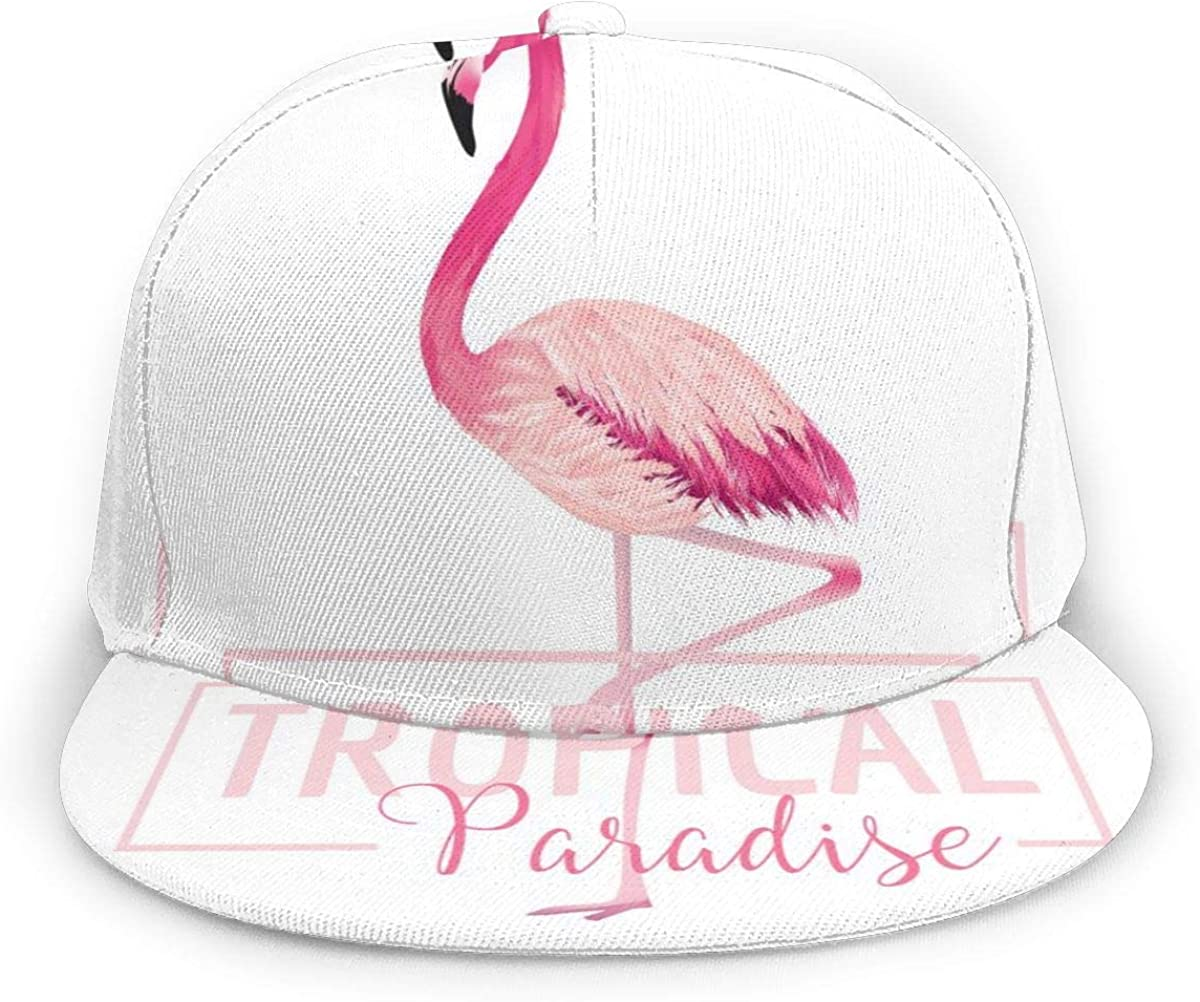 Flamingos Tropical Paradise Lightweight Unisex Baseball Caps Adjustable Breathable Sun Hat for Sport Outdoor Black