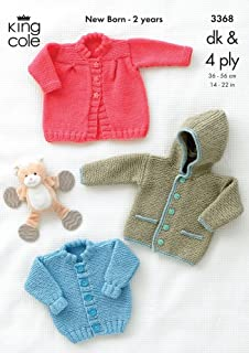 26240f5405a2 King Cole Knitting Pattern 2903   Baby DK Cardigan