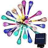 Goodia, 4,8 metri di luci decorative a LED, a energia solare, impermeabili, da giardino. 20 LED. Per veranda, albero di Natale, feste, decorazioni varie