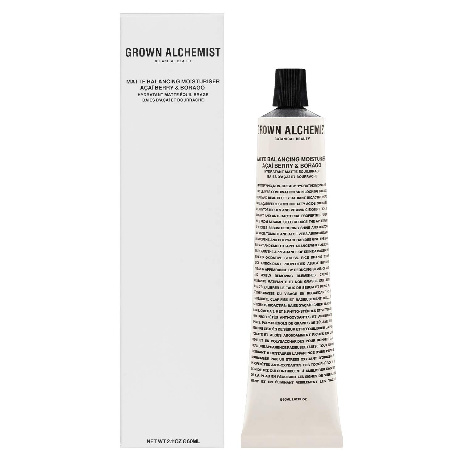 Grown Alchemist Matte Balancing Moisturizer - Acai-Berry & Borago - Made with Organic Ingredients (60ml / 2.11oz)