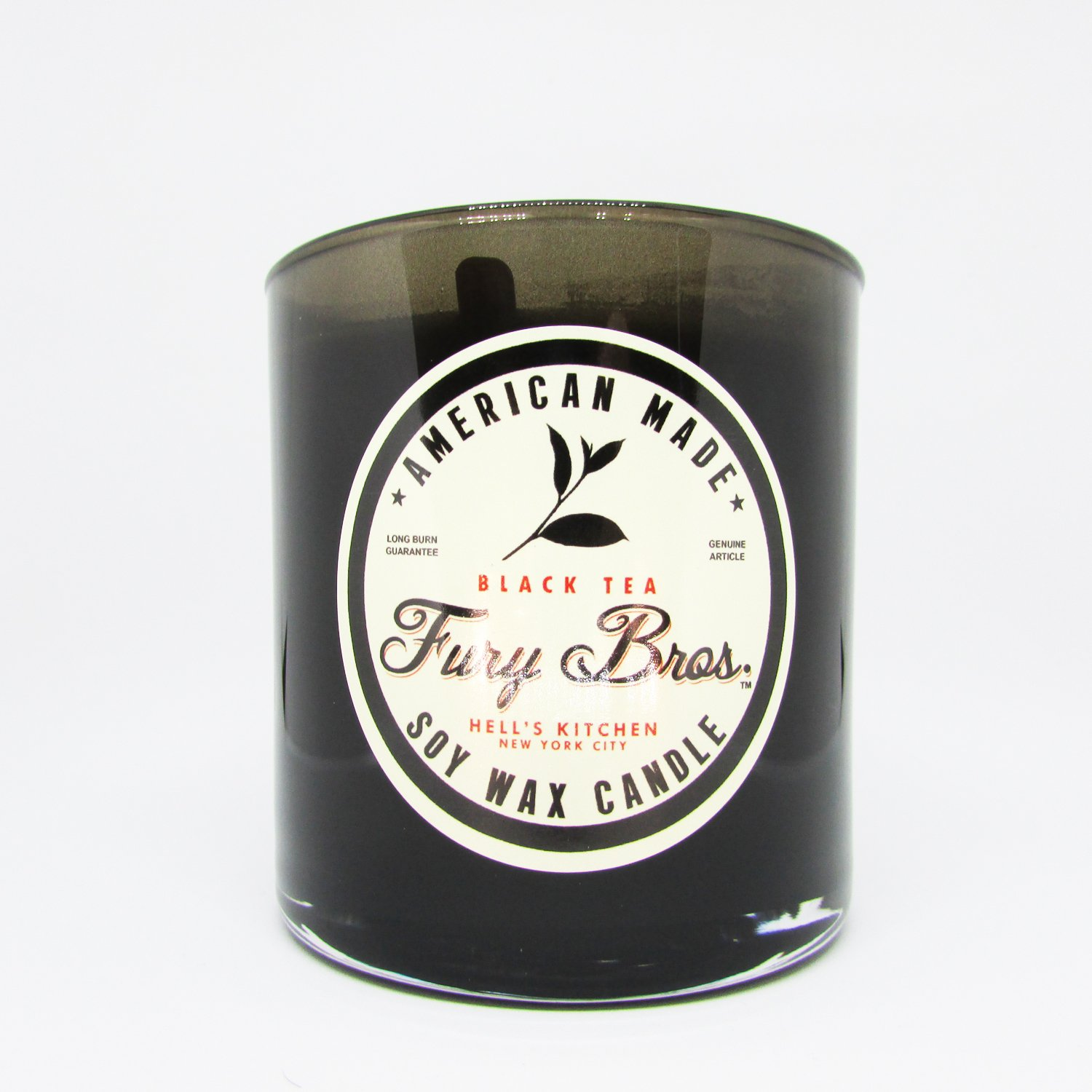 Fury Bros. Luxury Black Series Candles for Men | Made in the USA with High Grade 100 percent Soy Wax for a Long, Smooth Burn | All Natural, Vegan| Black Tea - Dutch East India Company Cargo, 9 ounce by Fury Bros. (Image #1)