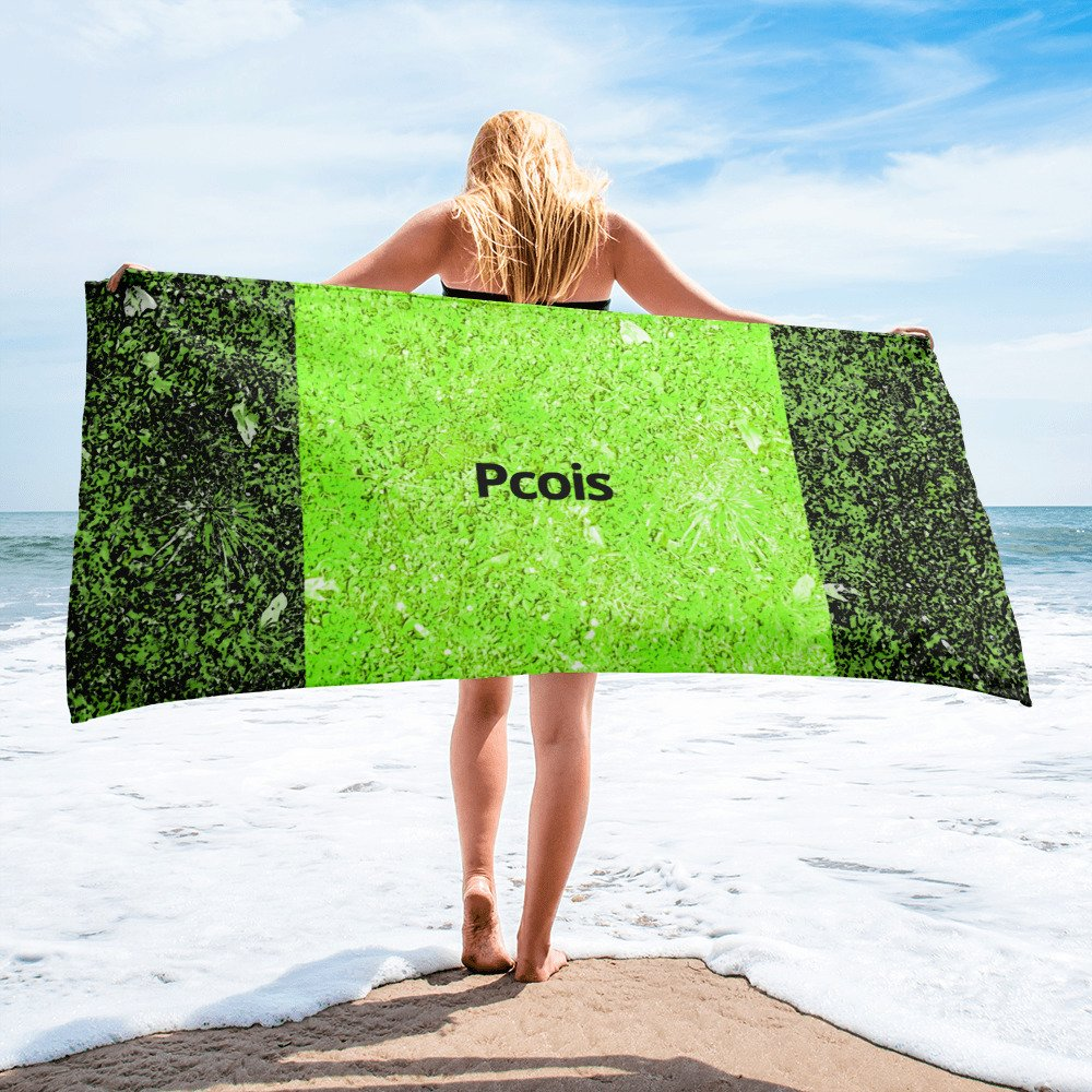 Green Towel Pcois Unique Multicolored