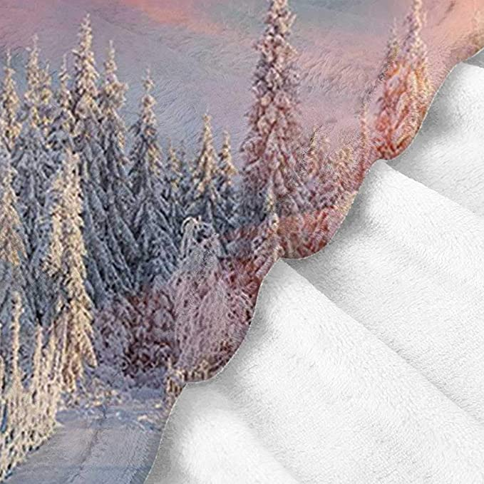 Amazon.com: BelleAckerman Travel Blanket Winter,Colorful ...