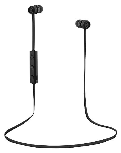 Auriculares inalámbricos con Bluetooth 4.1 y micrófono - Color negro.