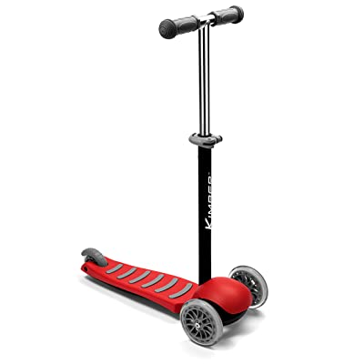Kimber Verve by PlaSmart Inc. - 3-Wheel Junior Kick Scooter, Red, Ages 3 to 5 yrs: Toys & Games