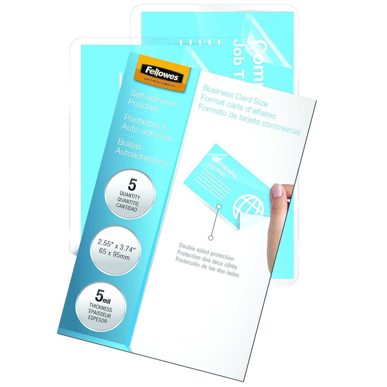 Amazon.com : Fellowes Laminating Sheets, Self Adhesive, Business ...
