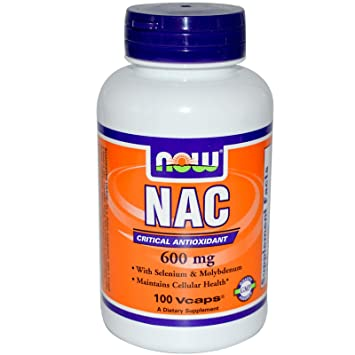 Amazon.com: Nac, Crítico antioxidante, 600 mg, 100 Vcaps ...