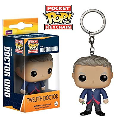Doctor Who 12th Doctor Pocket Pop! Vinyl Figure Key Chain: Toys & Games