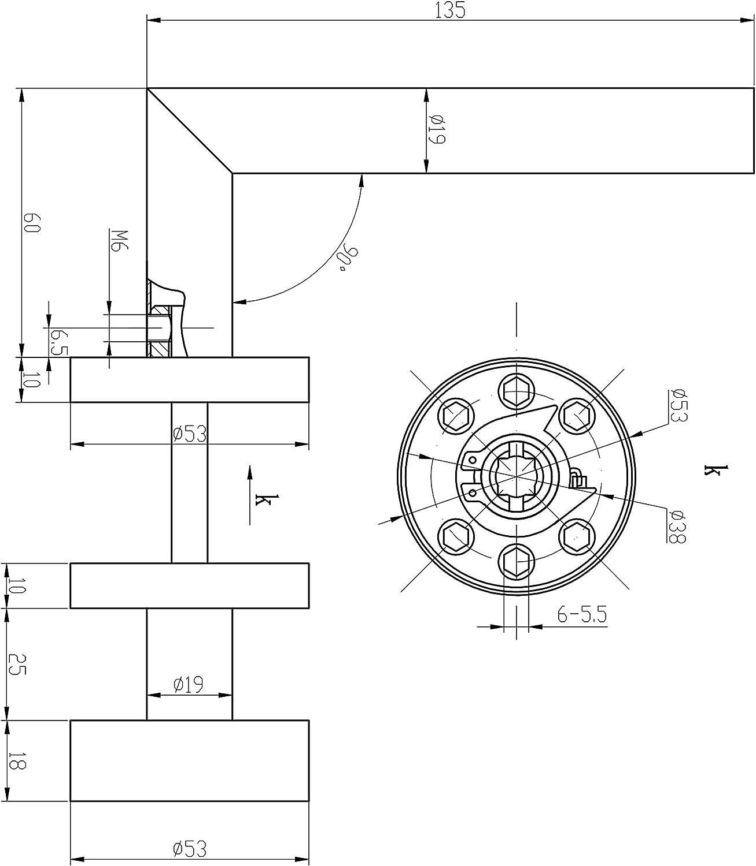 120mm Vierkant//Drehwechselstift