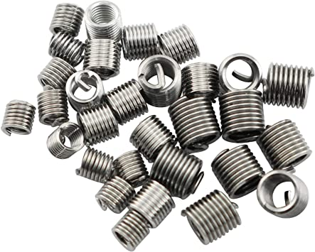 Thread Inserts Thread Repair Tool Stainless Steel 10 Packs for Machine Handcraft DIY