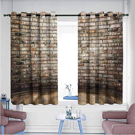 Samek - Cortinas para Puerta corredera, Interior de Torre Antigua de Pared de ladrillo, Cortinas Opacas para recámara, 55 x 63 cm: Amazon.es: Hogar