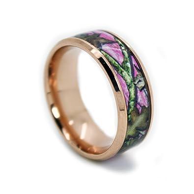 gold plated titanium wedding band. #1 camo rose gold plated pink rings - camouflage titanium wedding band 8mm n