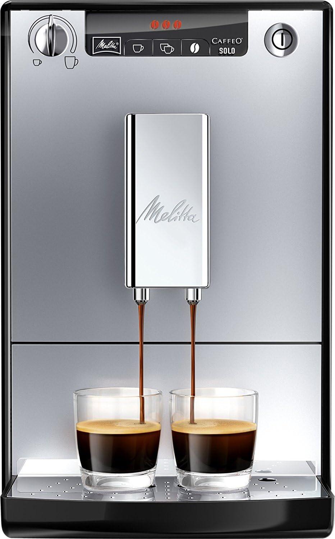 Melitta Caffeo Solo E950-103, Cafetera Molinillo, 15 Bares, Café en Grano para Espresso, Limpieza Automática, Personalizable, Plata, 1400 W, 1.2 litros, Acero Inoxidable: Amazon.es: Hogar