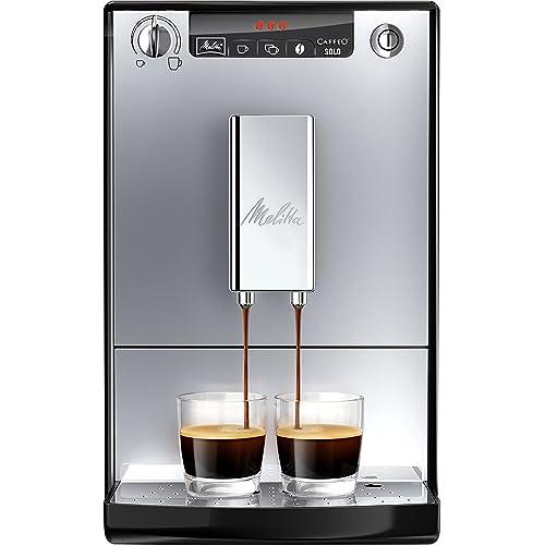 Melitta SOLO E950-103, Bean to Cup Coffee Machine, with Pre-Brew Function, Silver/Black