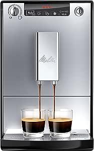 Melitta Caffeo Solo E950-103 Volautomatische Espressomachine met voorzetfunctie, 15 Bar, Led-Display, in Hoogte Verstelbare Koffieuitloop, Uitneembare Zetgroep, Zilver