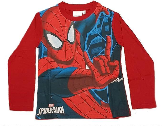 Spiderman T-Shirt /à Manches Longues Gar/çon Marvel