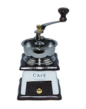 EM HOME ® Manual Molino de cafe de madera y ceramica / metal Molino de mano Molino de especial (MARRON): Amazon.es: Hogar