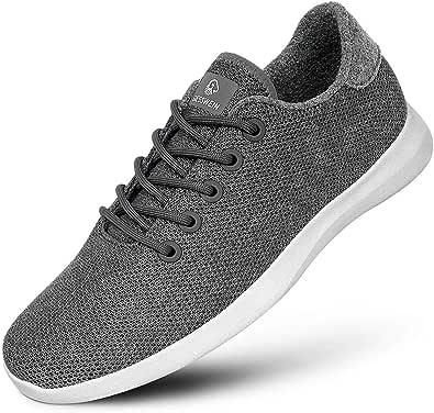 GIESSWEIN Merino Wool Knit Women – Zapatillas transpirables para mujer de 100% lana de merino, zapatillas deportivas descalzo para mujer, zapatos de ocio, zapatos para mujer