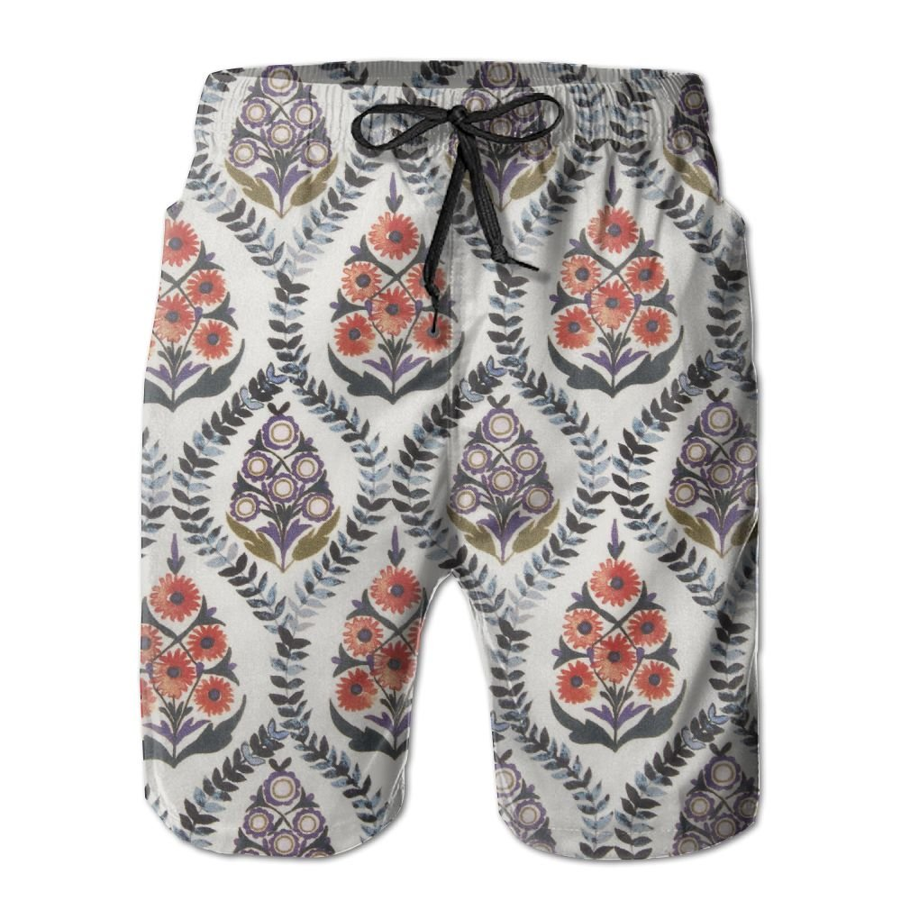 White XXL eroute66 Summer Beach Men Striped Drawstring Elastic Waist Underwear Swimming Briefs