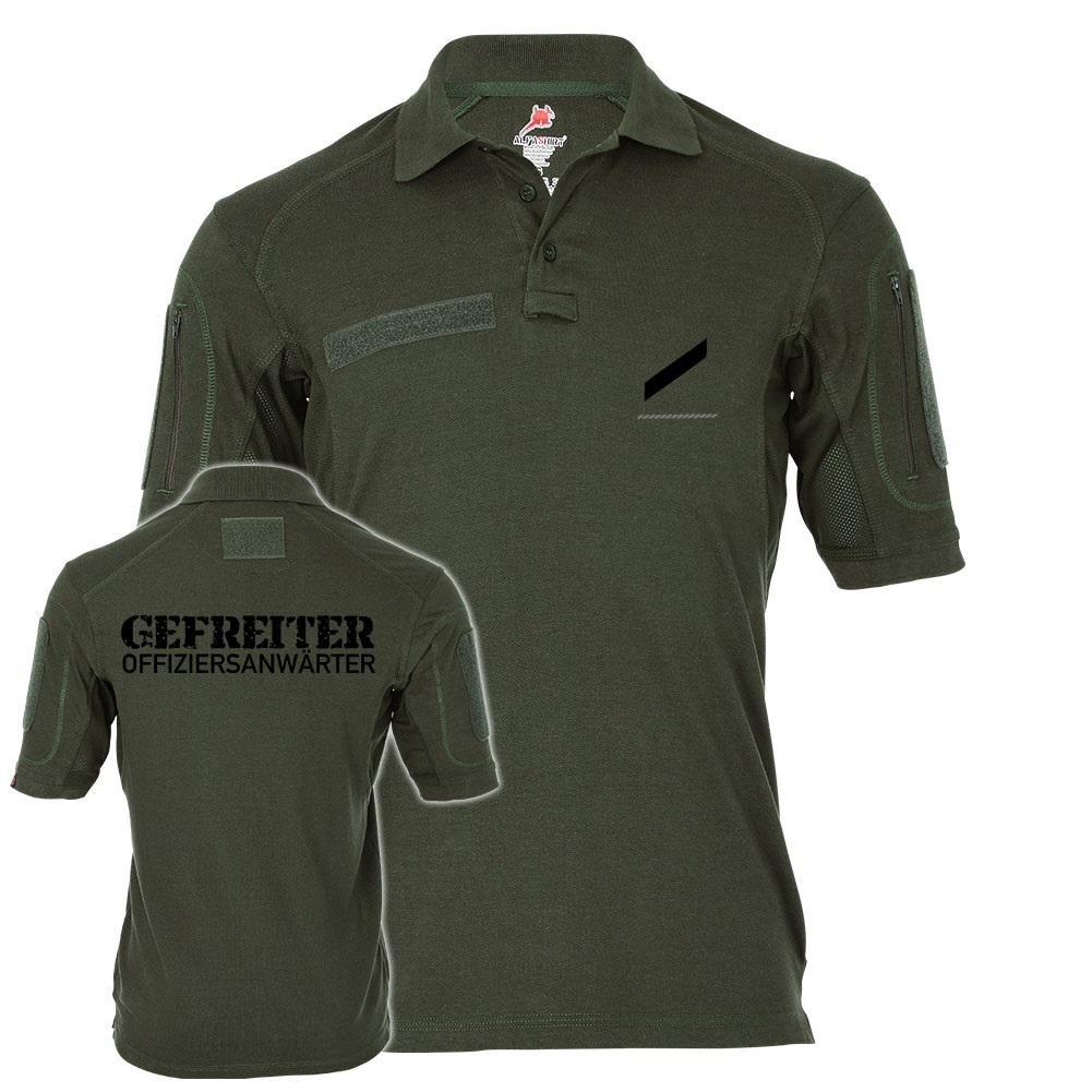 Tactical Poloshirt Alfa - Gefreiter Offiziersanwärter Gefr OA G OA Soldat Abzeichen Dienstgrad Rang  19275, Größe:S, Farbe:Oliv