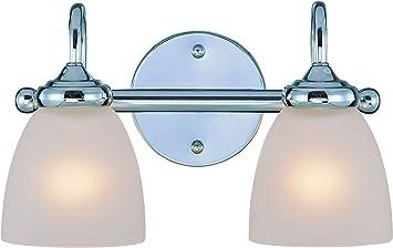 Craftmade 26102 Ch Spencer Vanity Wall Lighting 2 Light 200 Watts 14 W X 9 H Chrome Vanity Lighting Fixtures Amazon Com