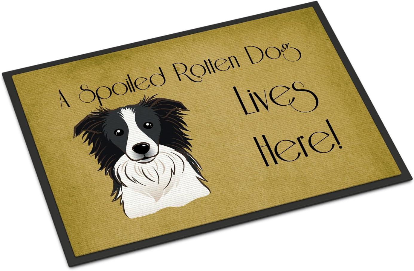 24 x 36 Carolines Treasures BB1500JMAT Golden Retriever Spoiled Dog Lives Here Indoor or Outdoor Mat Multicolor
