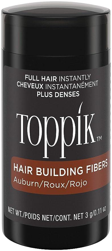 Toppik - Fibras capilares de queratina natural, Rojizo , bote de 3 gr