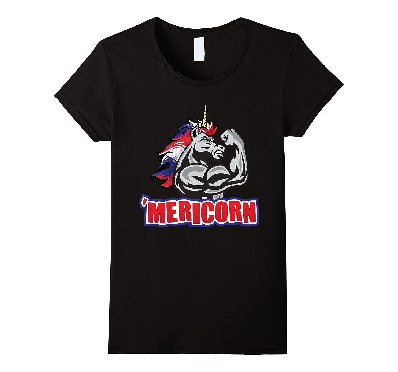 'Mericorn – Funny Unicorn July 4th Shirt Design-Yolotee