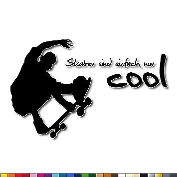 skater sprüche LAVIWandtattoo + Skater sind einfach nur cool + Skateboard  skater sprüche
