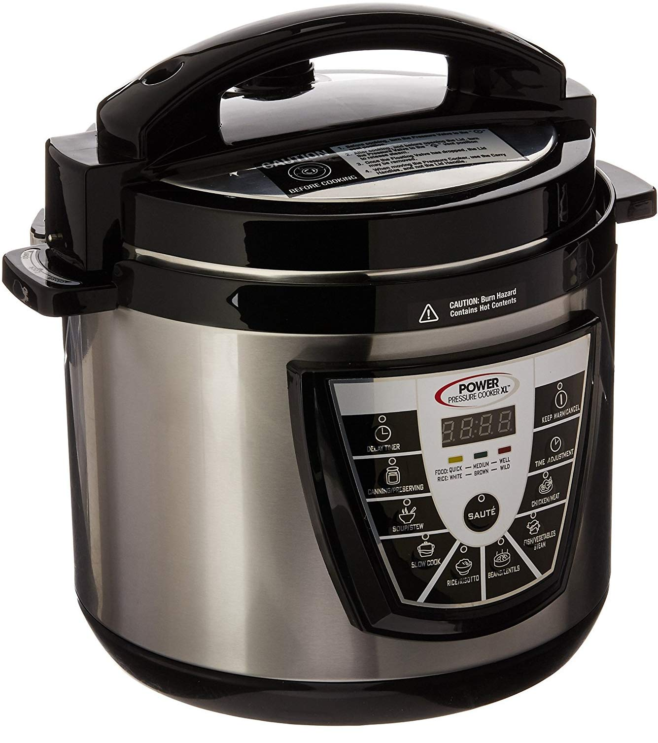 Power Pressure Cooker XL 6 Quart - Silver by Power Pressure Cooker XL (Image #2)