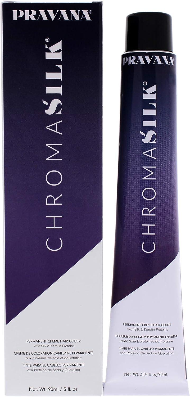 Pravana ChromaSilk Creme Hair Color with Silk & Keratin Protein 6.46 Dark Copper Red Blonde by Pravana