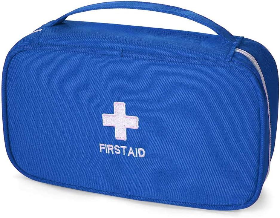 Bolsa de Primeros Auxilios, Bolsa Médica Portátil Vacía Bolsa de Almacenamiento de Supervivencia de Emergencia Tratamiento al Aire Libre Rescure en el Hogar para Coches Viajes Negocios Viajes (Azul)