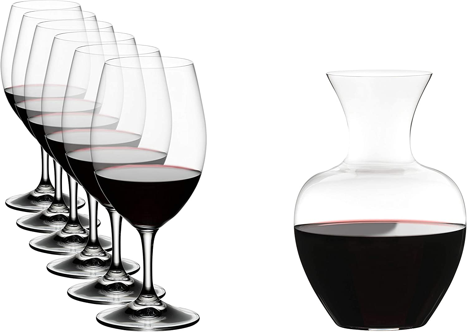 Riedel Ouverture Wine Glass and Decanter Set, 7 Piece, Decanter & Glasses