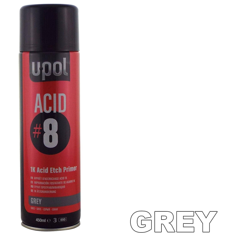 U-POL Acide Pâ te 8 1 K Apprê t Etch 450 ml Aé rosol UPol sé chage rapide sans ponç age né cessaire favorise la peinture adhé rence aux surfaces difficiles comme en acier et aluminium
