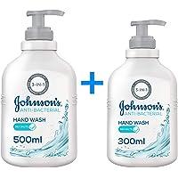 JOHNSON'S, Hand Wash Anti-Bacterial Sea Salts, 500 + 300 ml (Pack of 2)