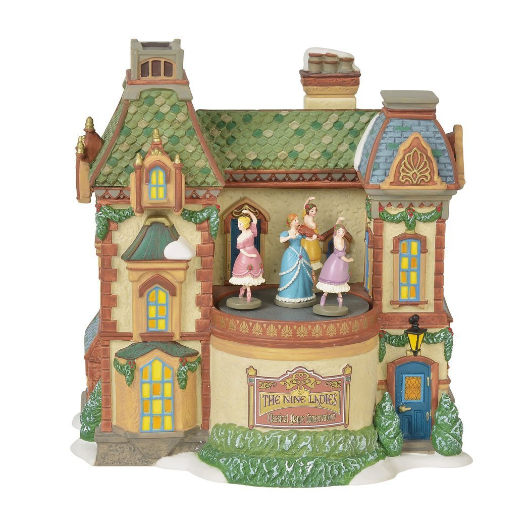 Department 56 Dickens Village Nine Ladies Dance Conservatory Building 6000582