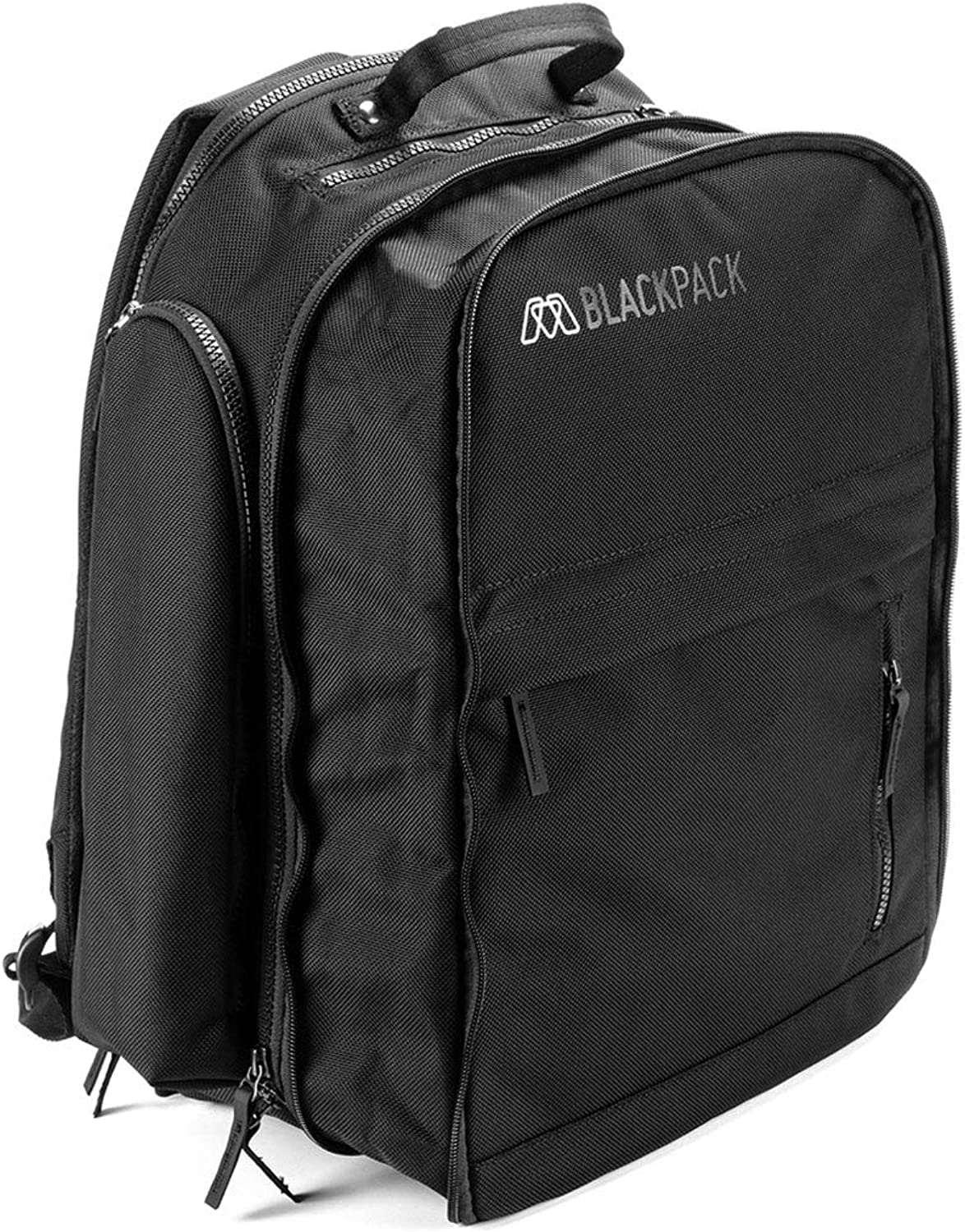MOS BLACKPACK, Durable Electronics Travel Backpack for 15 Laptop, Tablet with built in cable managment