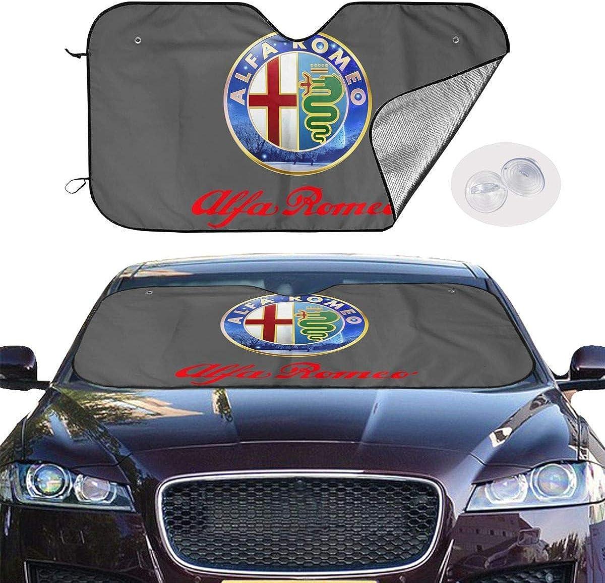 Accordion Car Sunshade Portable Windshield Sun Shade for Car Truck SUV WORKhard9 Alfa Romeo Heat Insulation Car Windshield Sun Shade