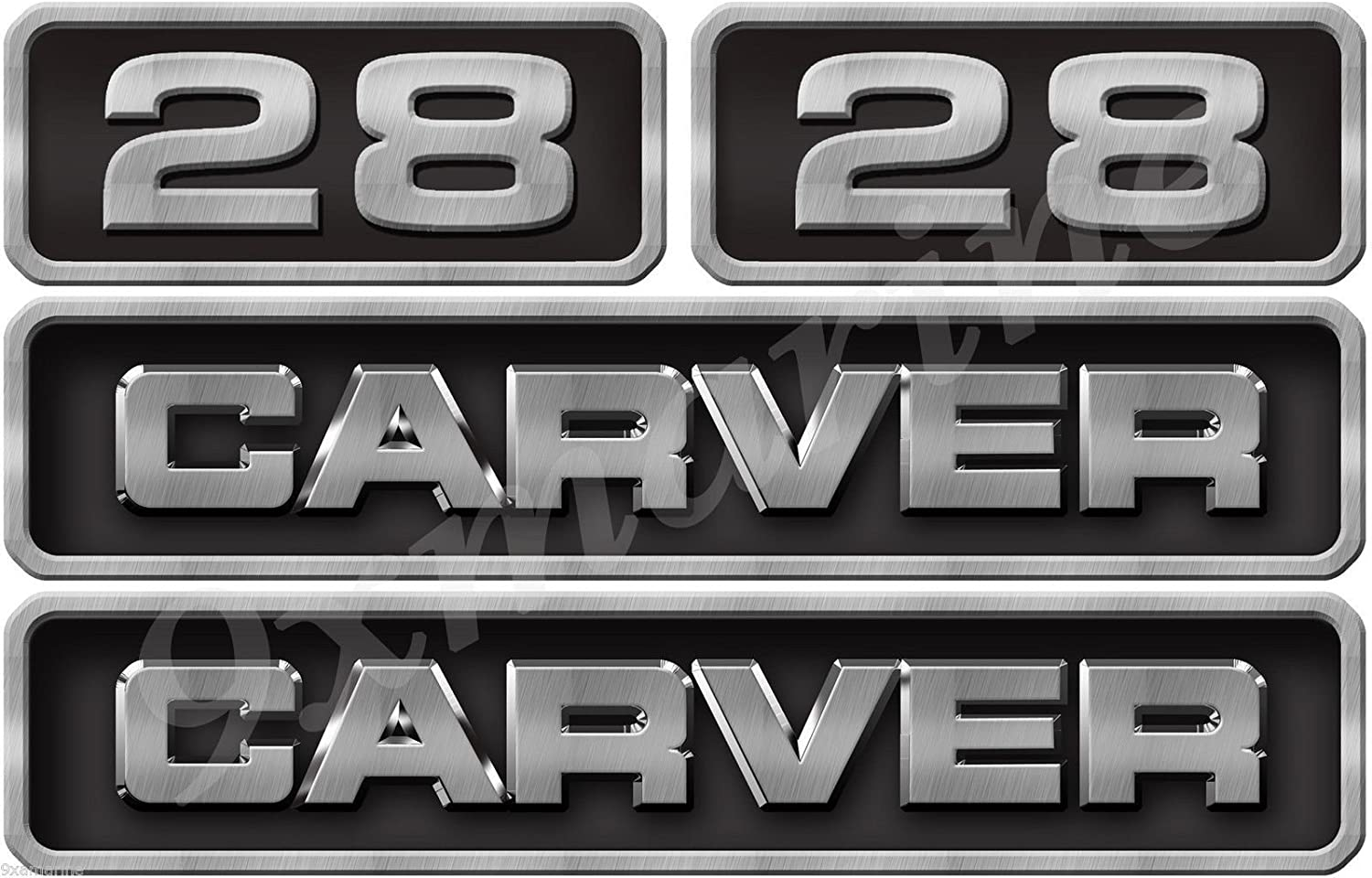 USED GOOD METAL CARVER EMBLEM  with Adhesive backing