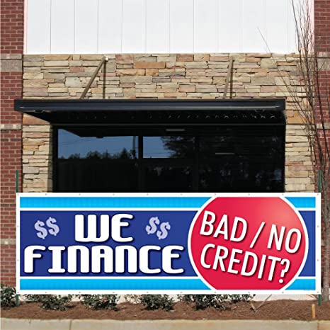 Giveaway Auto Sales >> Auto Sales Banner 3 X 9 We Finance Bad Credit 10 Oz Vinyl Banner With Grommets For Hanging