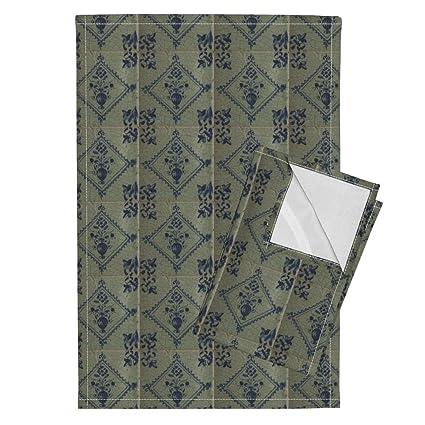 amazon com delft tea towels classic delft blue ceramic tile rh amazon com