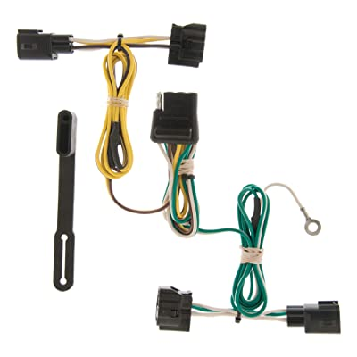 CURT 55363 Vehicle-Side Custom 4-Pin Trailer Wiring Harness for Select Jeep Wrangler: Automotive