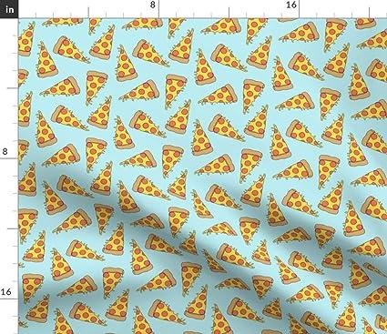 Amazon com: Spoonflower Pizza Fabric - Pizzas Junk Food Food
