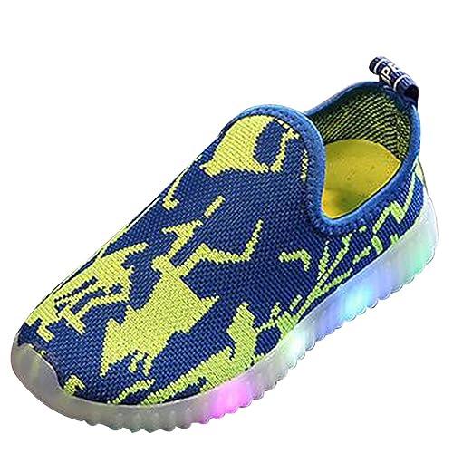 KINDOYO LED Zapatillas Niños Niñas Unisex-niños Color Luces Luminosos Zapatillas Deportivos Zapato, 4 Colores: Amazon.es: Zapatos y complementos