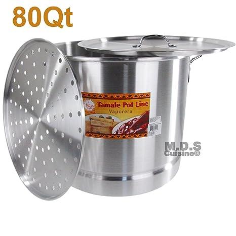80 Qt Tamale olla vaporera Olla Premium aluminio Tamalera 20 galones