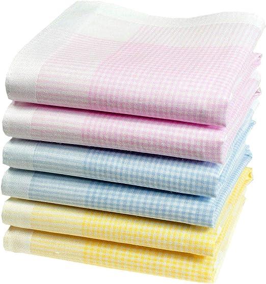 Merrysquare 6 pañuelos para señora - Modelo « Babeth » - 100% algodón - 32cm: Amazon.es: Hogar