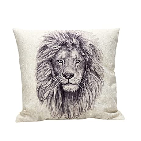 Amiley Cushion Cover Pillow Case , 2017 Valentineu0027s Day Lion Pillow Case  Sofa Waist Throw Cushion