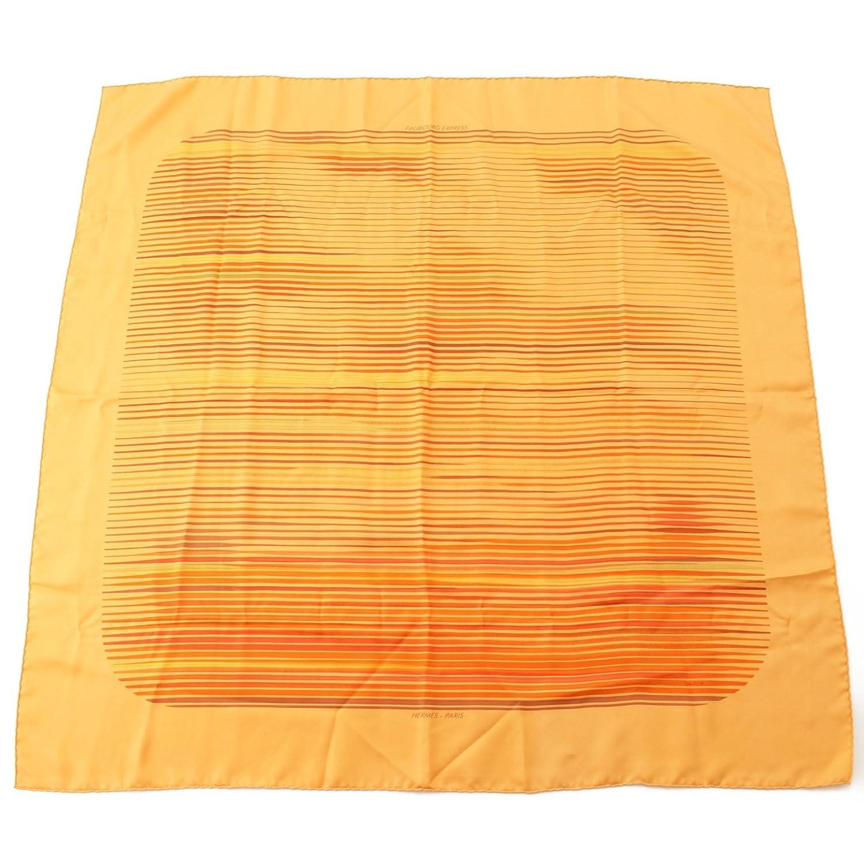 エルメス カレ90 シルクスカーフ FAUBOURG EXPRESS フォーブルエキスプレス オレンジ B07FSGN2HN  -